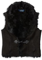 Ralph Lauren Girls' Shearling Vest - Big Kid