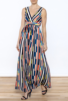 Traffic People Printed Maxi Dress