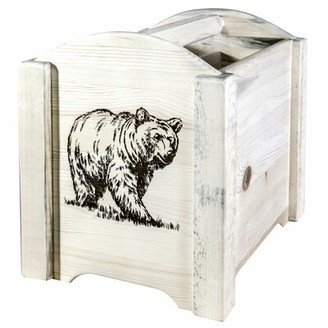Abella Laser Engraved Magazine Rack Loon Peak Color: Clear Lacquer Finish