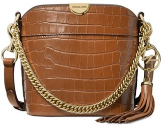 MICHAEL Michael Kors Extra-Small Bea Croc-Embossed Leather Bucket Bag