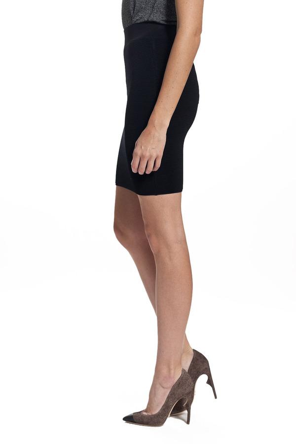 Torn By Ronny Kobo Celine Skirt - Black