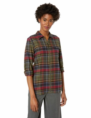 Chaps Women's Long Sleeve Medium Weight Twill-Shirt