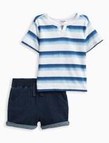 Splendid Baby Boy Ompre Striped Short Set