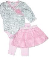 Baby Essentials 3-Pc. Bodysuit, Tutu & Leggings Set, Baby Girls (0-24 months)