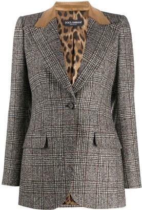 Dolce & Gabbana Checked Single-Breasted Blazer