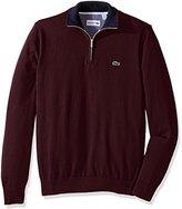 Lacoste Men's Seg 1 1/4 Zip Jersey Sweater