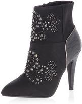 Dorothy Perkins Black stud heeled ankle boots