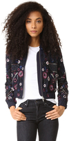 Needle & Thread Embroidered Folk Bomber Jacket