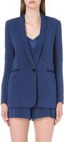 Sandro Diamond-pattern brocade blazer
