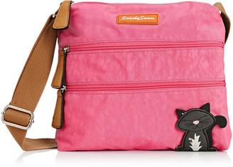 SWANKYSWANS Womens Riley Cat Designer Cross-Body Bag Light Pink