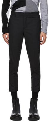 Neil Barrett Black Horizontal Zip Trousers