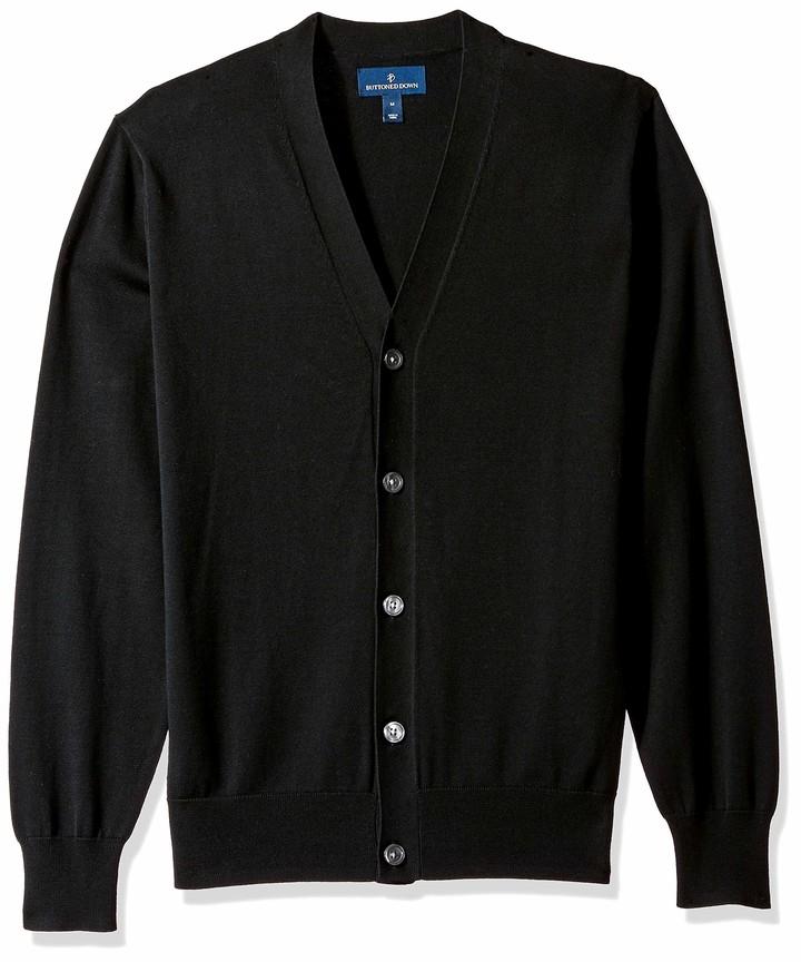 Supima Cotton Cardigan Sweater Black US M (EU M)