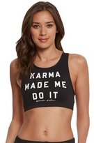 Spiritual Gangster Karma Made Me High Neck Yoga Sports Bra 8156483
