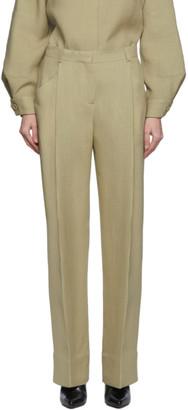 Jacquemus Beige Wool Le Pantalon Loya Trousers