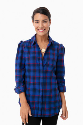 Blue Plaid Saranac Shirt