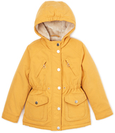 Urban Republic Dijon Yellow Heart-Zipper Hooded Jacket - Infant & Girls