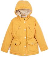 Urban Republic Dijon Yellow Heart-Zipper Hooded Jacket - Infant, Toddler & Girls