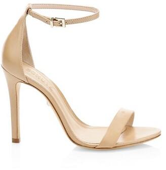 Schutz Cadey-Lee Leather Ankle-Strap Sandals
