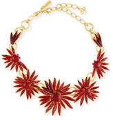 Oscar de la Renta Floral Resin Station Necklace