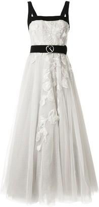 Saiid Kobeisy Embellished Floral Maxi Dress