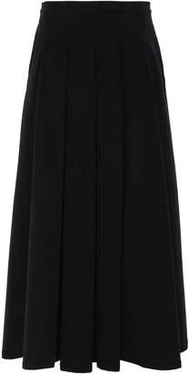 Gentryportofino Pleated Velvet Maxi Skirt