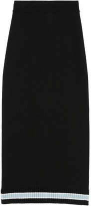 Burberry High-Waist Wool Skirt