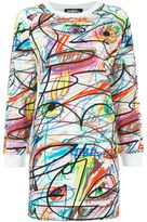 Jeremy Scott scribbled sweatshirt dress