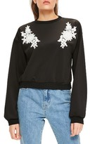 Missguided Women's Lace Applique Pullover