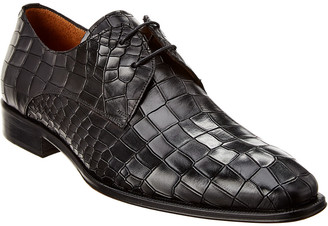 Mezlan Gianni Croc-Embossed Leather Oxford