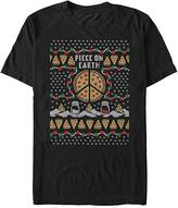 Fifth Sun Men's Tee Shirts BLACK - Black 'Piece on Earth' Pizza Tee - Men