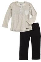 Hudson Toddler Boy's Stripe Henley & Jeans Set
