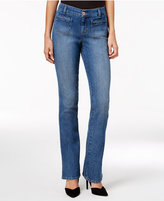 Style&Co. Style & Co. Petite Braided-Trim Pacific Wash Bootcut Jeans, Only at Macy's