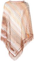 Missoni asymmetric draped poncho - women - Nylon/viscose - One Size