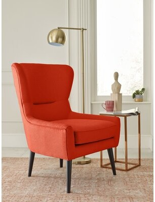 Tommy Hilfiger Auburn Wingback Chair Upholstery Color: Orange