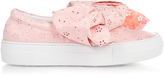 Joshua Sanders Broderie-anglaise bow slip-on platform trainers