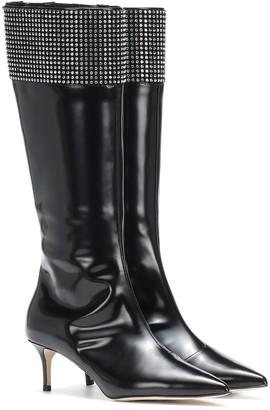 Christopher Kane Embellished leather knee-high boots