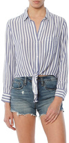 Rails Val Long Sleeve Tie Front Top