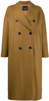 Cavallini Erika long double buttoned coat