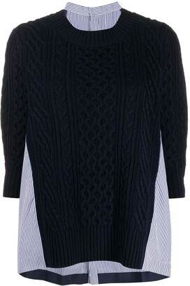 Sacai Panelled Sweater