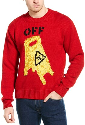 Off-White Pascal Wool-Blend Crewneck Sweater