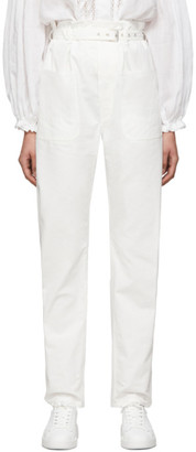 Isabel Marant White Kelinny Paperbag Waist Trousers