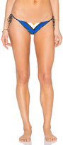 Vitamin A Natalie Mitered Stripe Tie Side Bikini Bottom