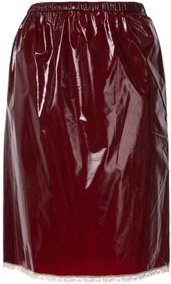 No.21 Lace Hem Midi Skirt