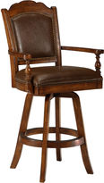 Hillsdale Nassau Upholstered Swivel Game Barstool with Back