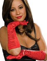 Secret Wishes Satin Stretch Elbow Length Costume Gloves