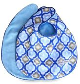 Caden Lane Ikat Mod 2-Pack Bib Set in Blue