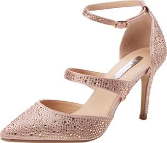 Dorothy Perkins Women's Gingera Diamante Trim Court Shoes Closed Toe Heels