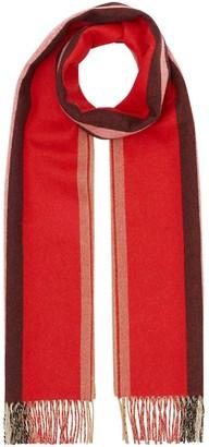 Burberry Reversible Icon Stripe Cashmere Scarf