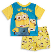 AME Sleepwear Minion Tee and Shorts Pajama Set