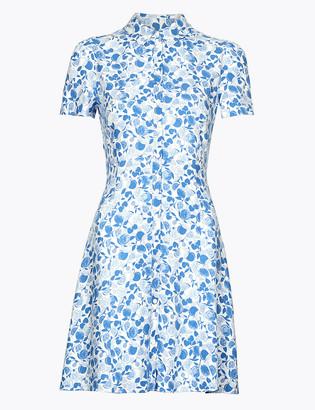 Marks and Spencer Fruit Print Empire Line Mini Shirt Dress
